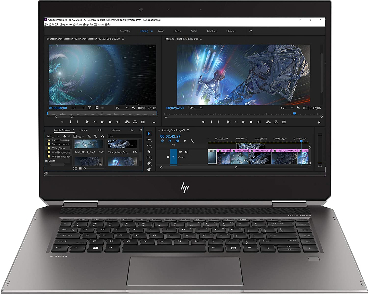 HP Zbook Studio X360 G5 Mobile Workstation 1 best budget laptop for photoshop